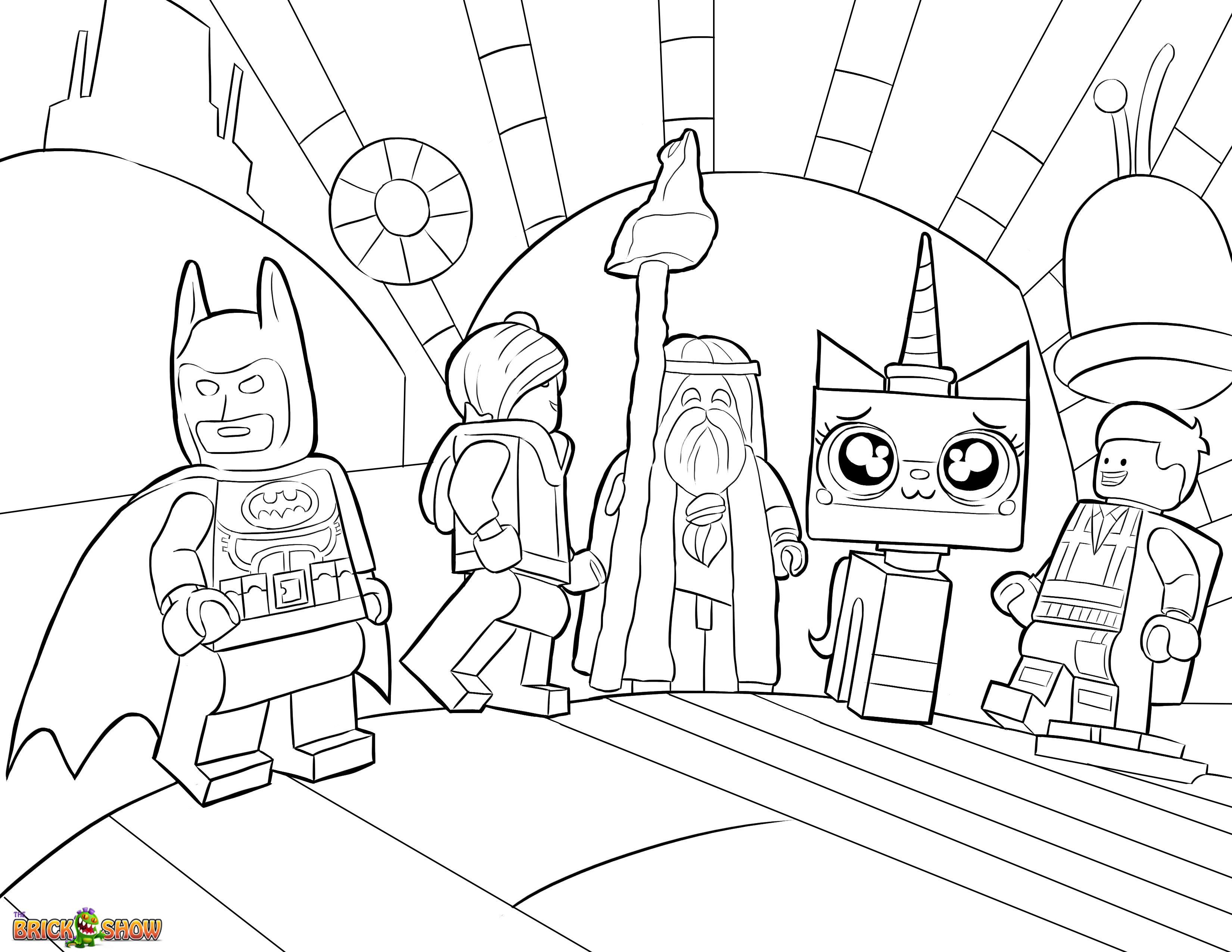 The Lego Movie Coloring Page Lego Unikitty Lord