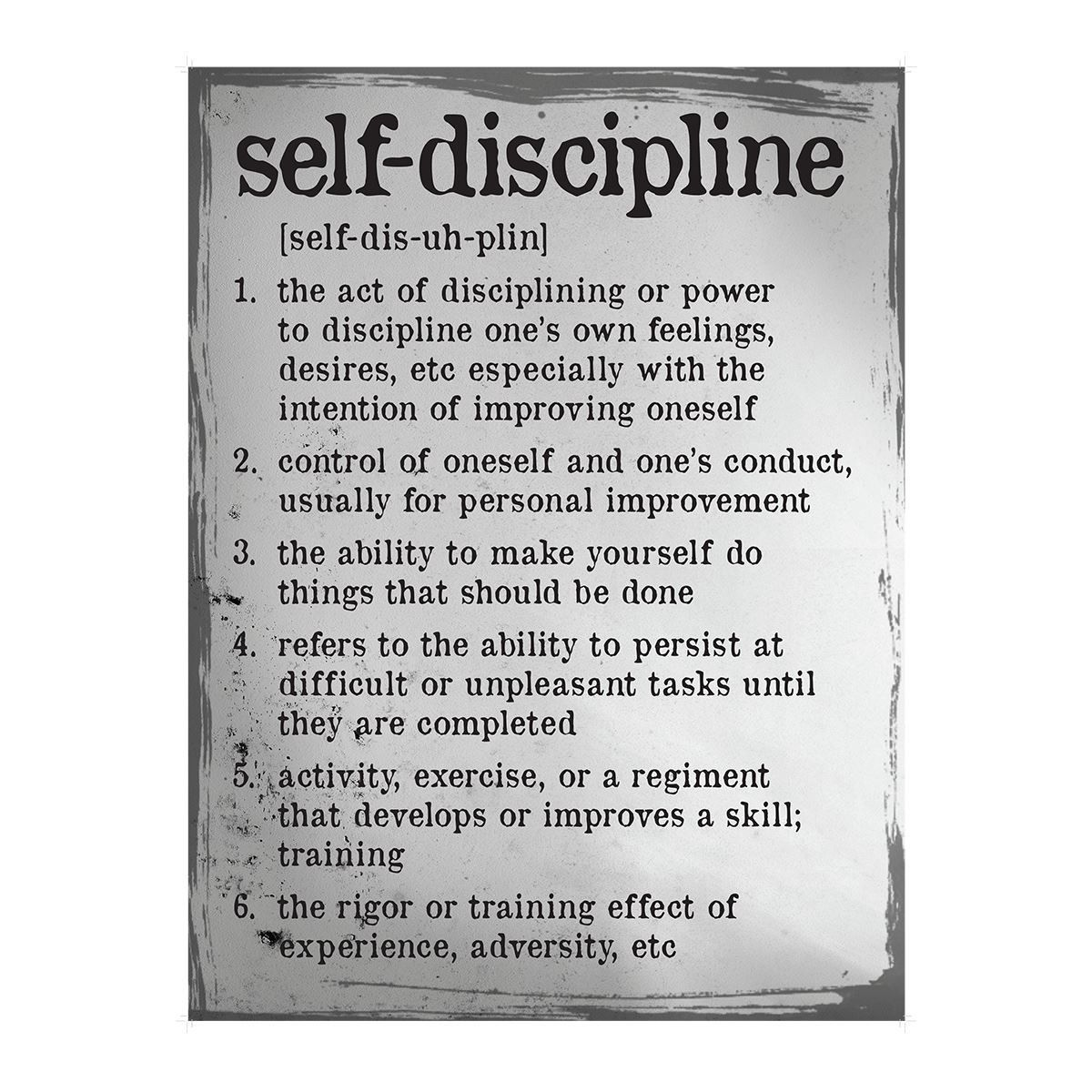 Self Discipline Definition Poster