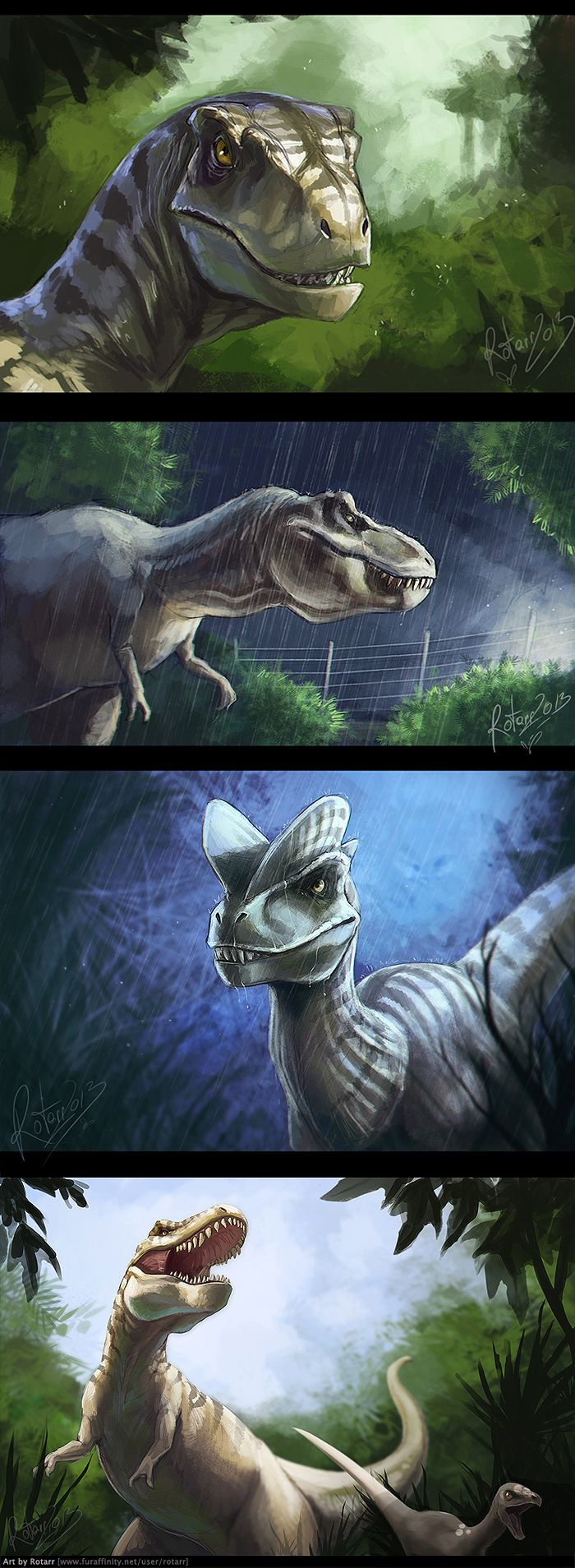 Jurassic Park Dinosaurs by FlyQueen The Entertainments