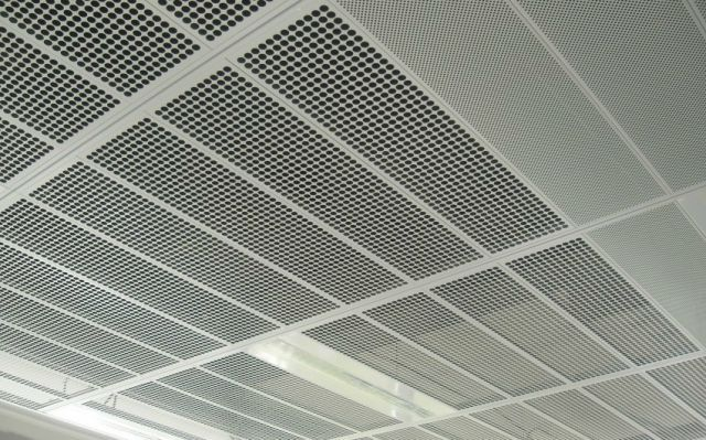 Armstrong Metalworks Metal Ceilings Are Made To Order In A Large Range Of Sizes Perforation Options And Installation Types Square Edge Tegular