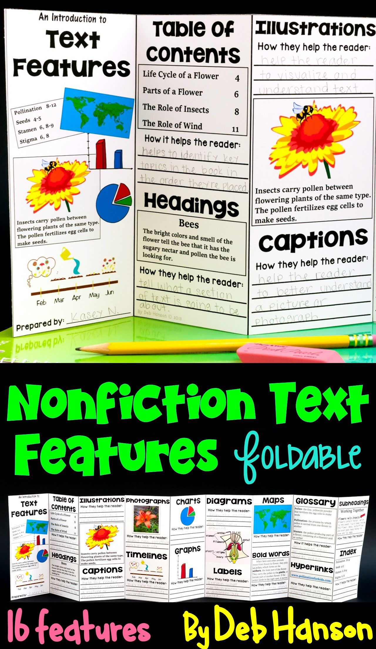 Nonfiction Text Features Foldable Craftivity Intro