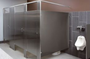 commercial bathroom stainless steel privacy stall partition walls