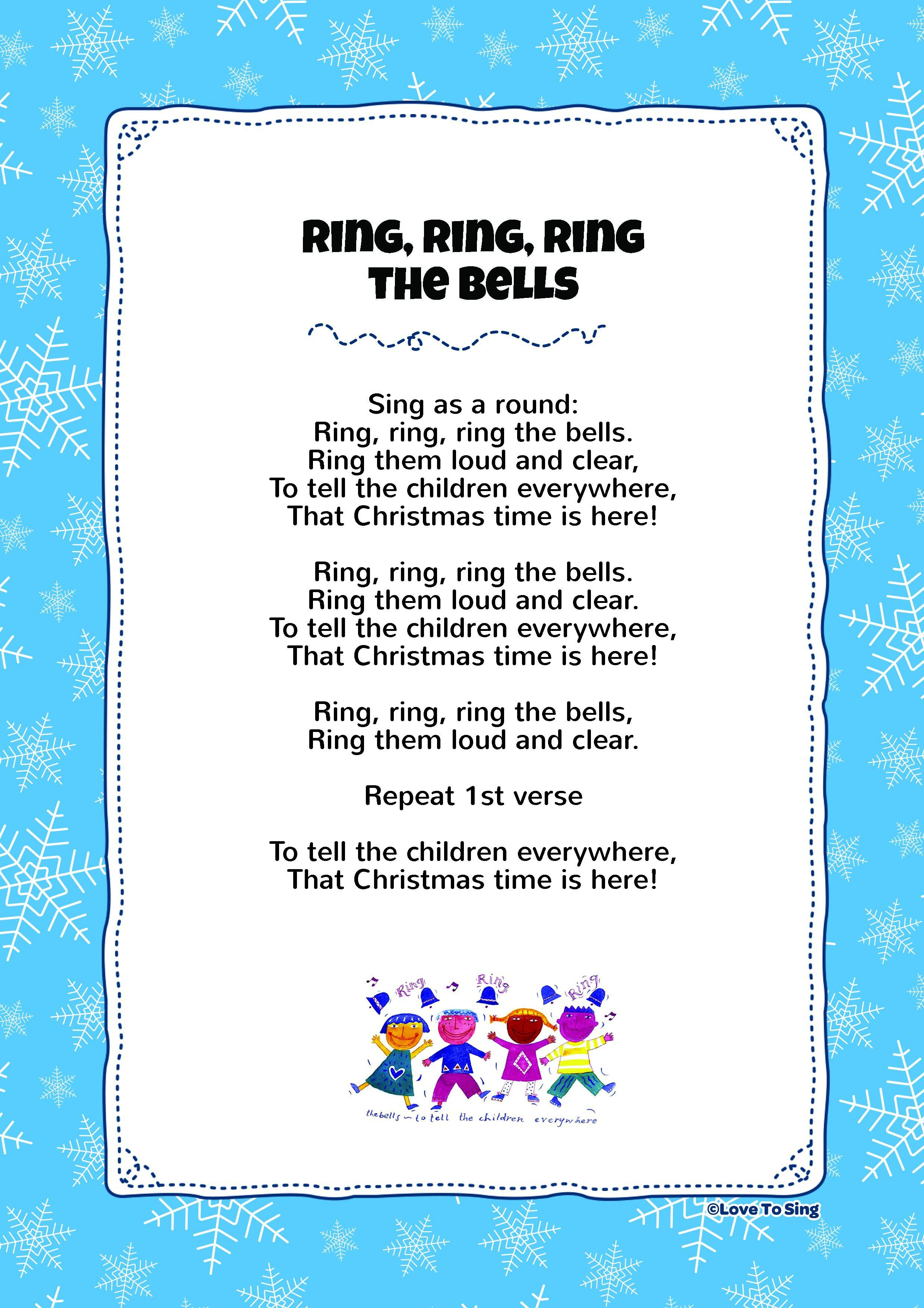 """Free Lyric Download """"Ring Ring Ring The Bells"""" Have a very"""
