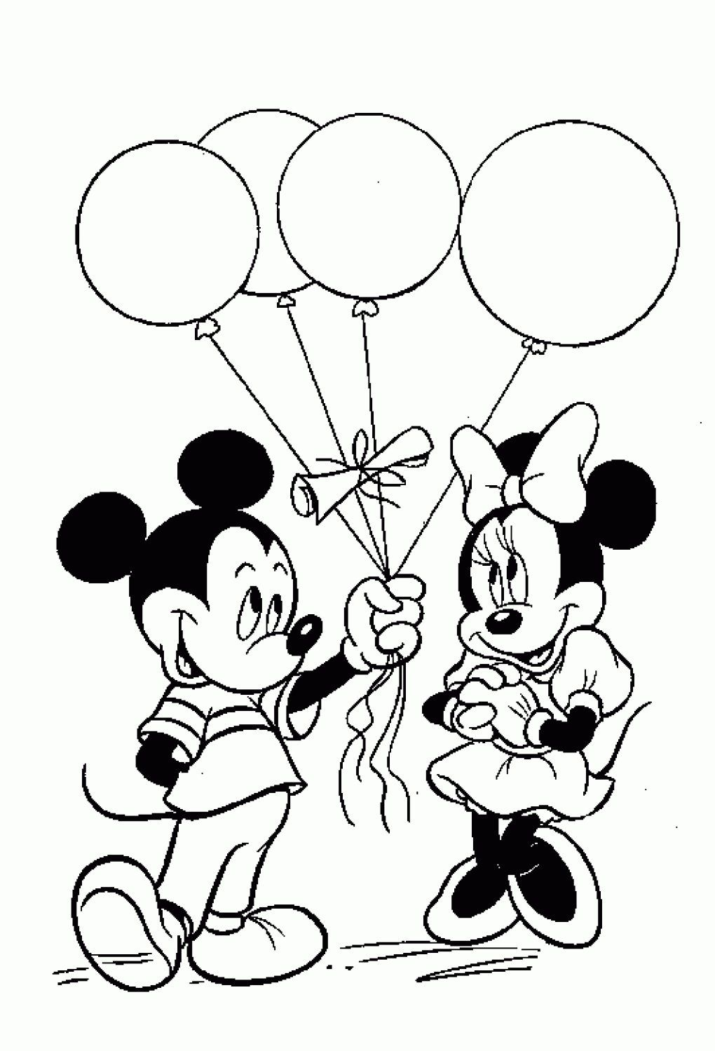 Mickey And Minnie Mouse Birthday Coloring Pages Praying Hands