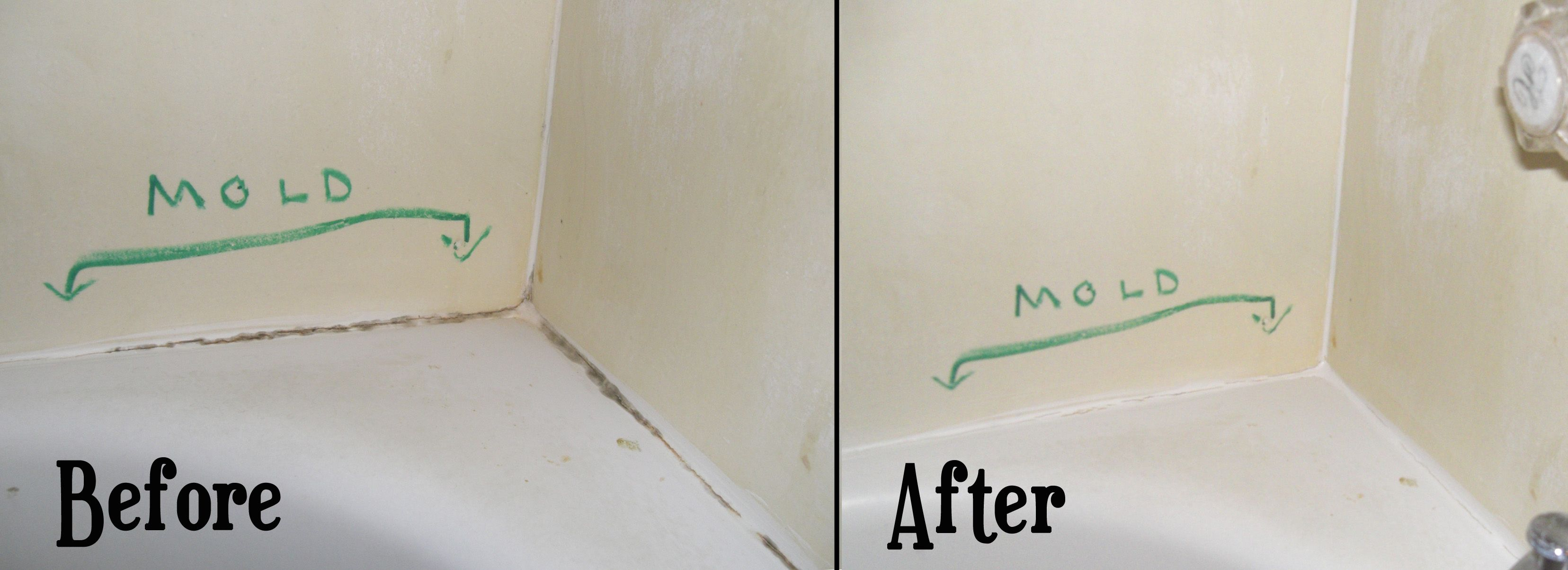 flashback: cleaning mold stains from bathtub caulk   cleaning mold