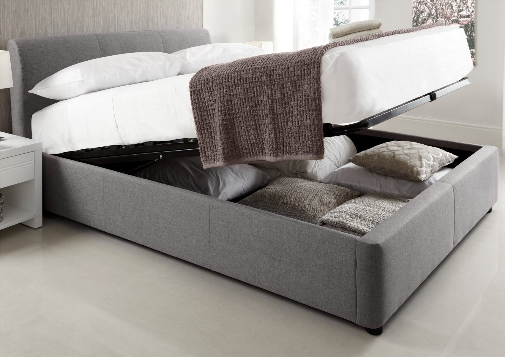 Serenity Upholstered Ottoman Storage Bed