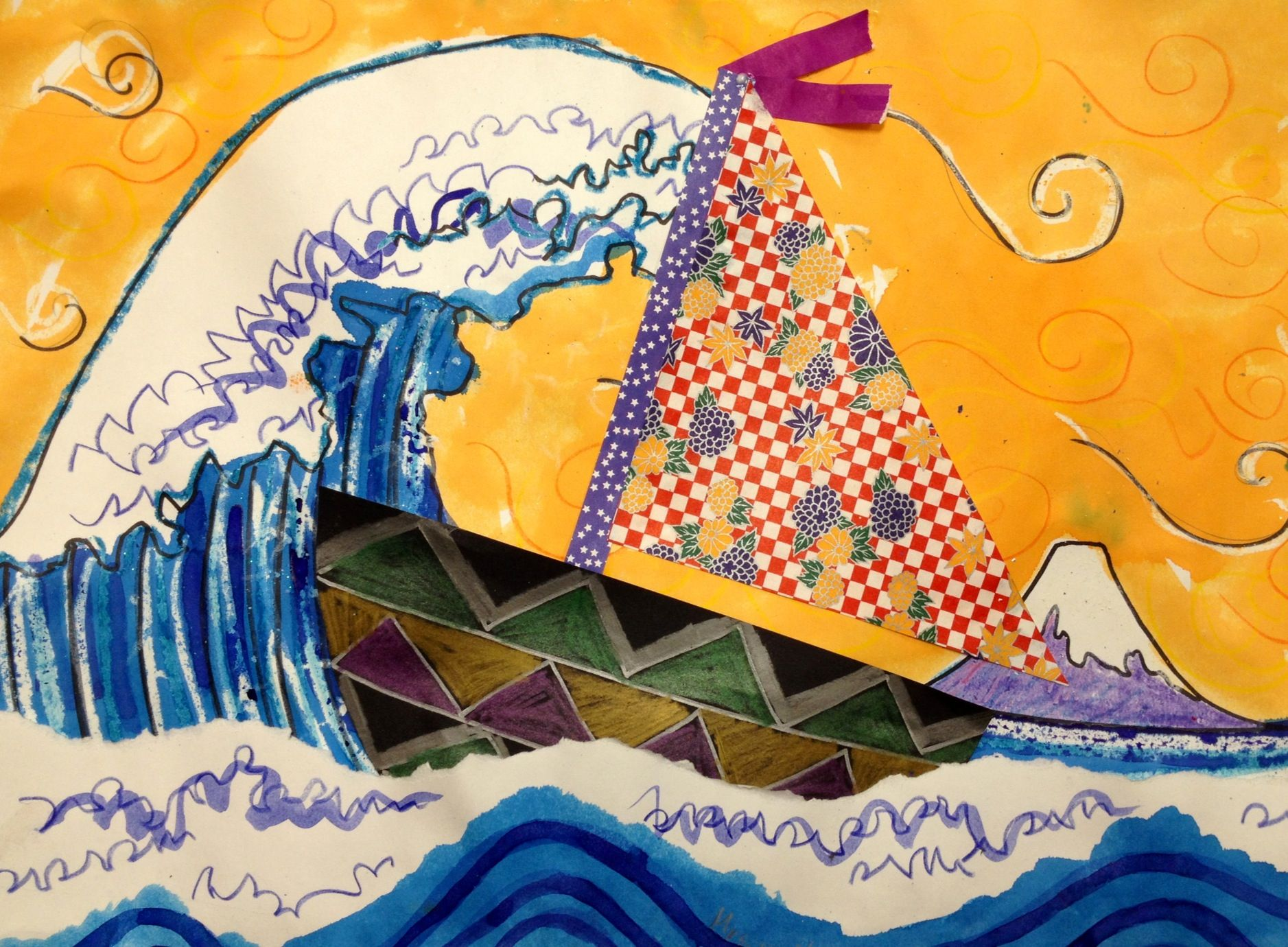 Hokusai Collage Would Work With The National Gallery Of Art S Kid S Page