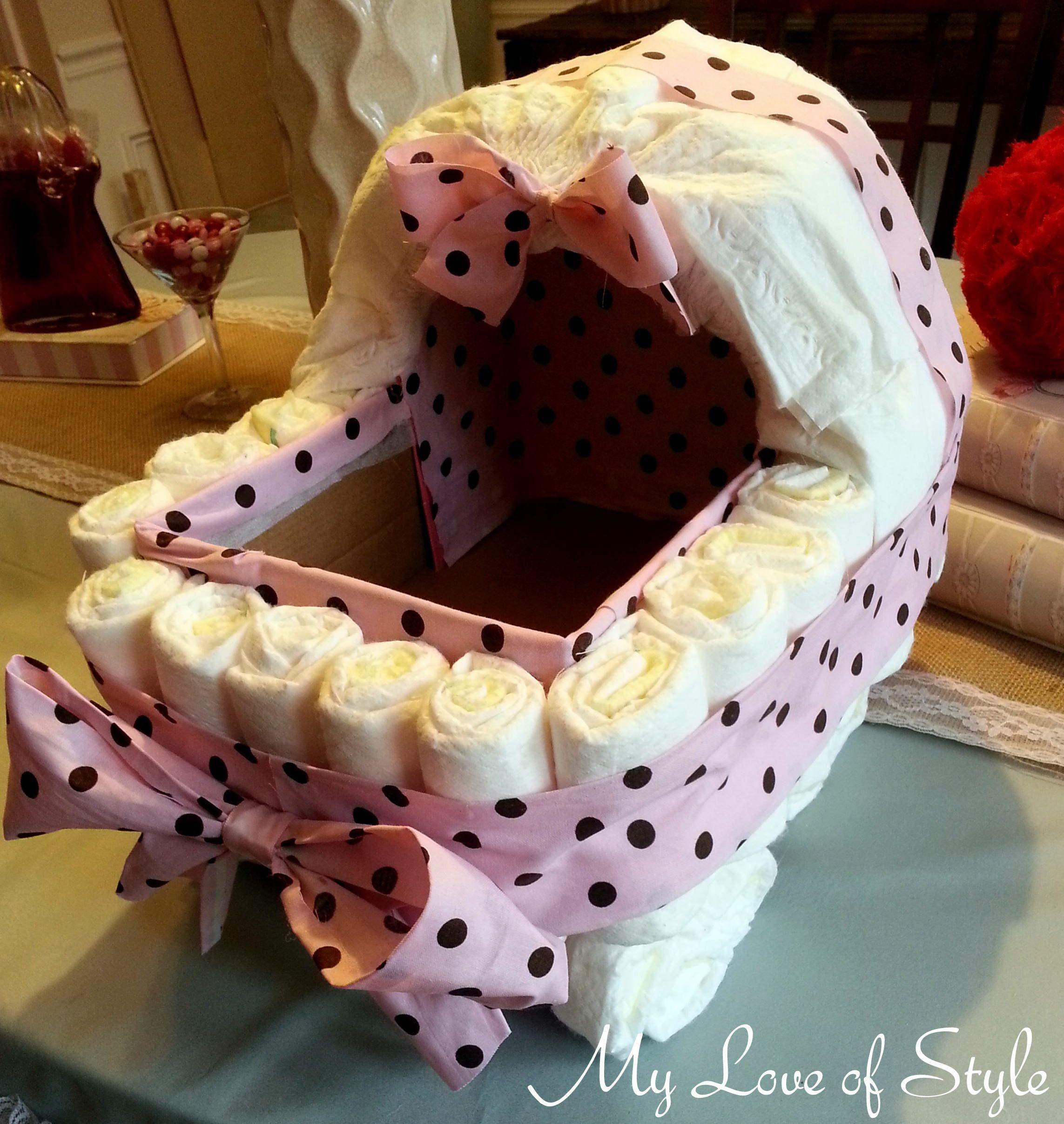 Diy Bassinet Diaper Cake Tutorial Step By Step