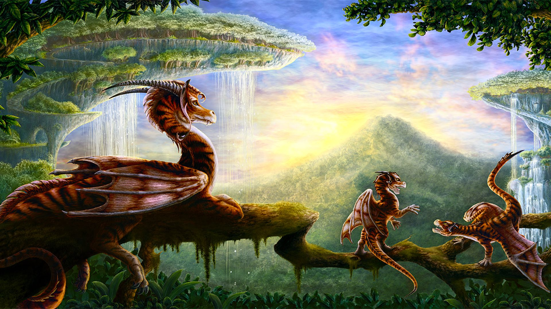 pictures of fantasy landscapes | fantasy green landscape fantasy