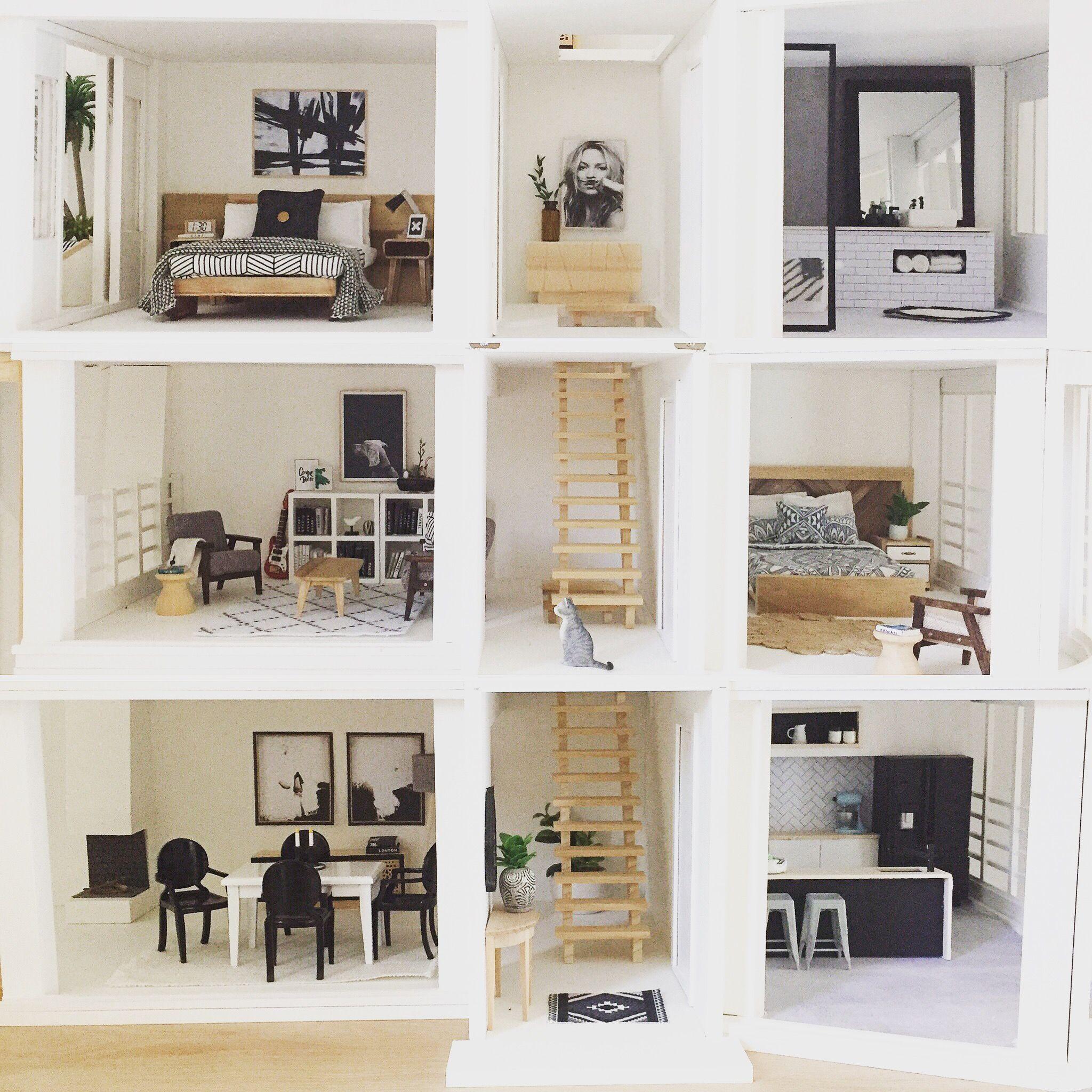 Modern dollhouse by The Dollhouse Emporium Malibu