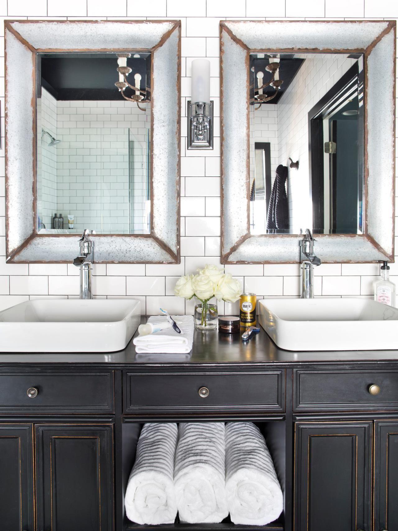 Timeless Black and White Master Bathroom Makeover The