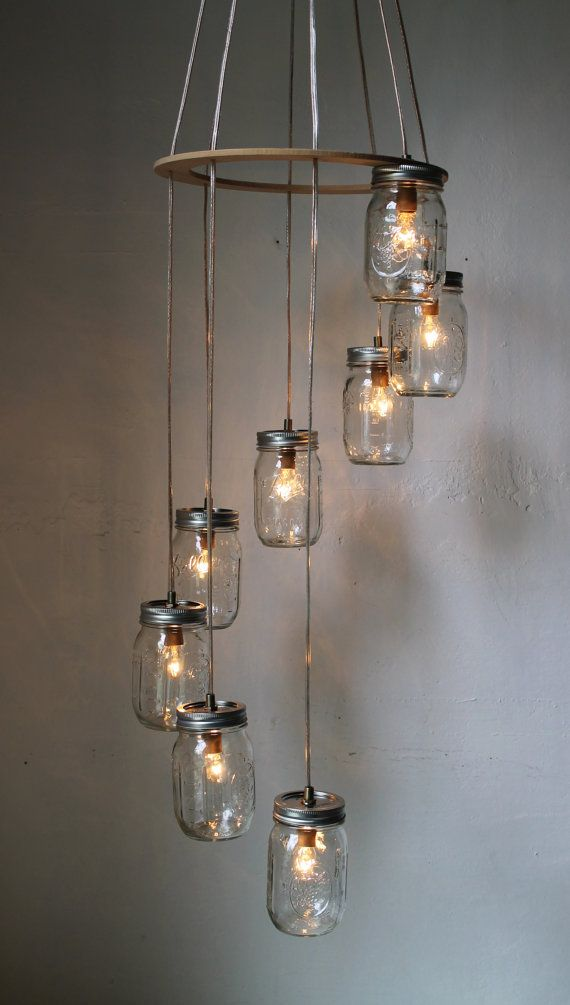 Bootsngus Creates Fabulous Mason Jar And Other Recycled Lamps Chandeliers I