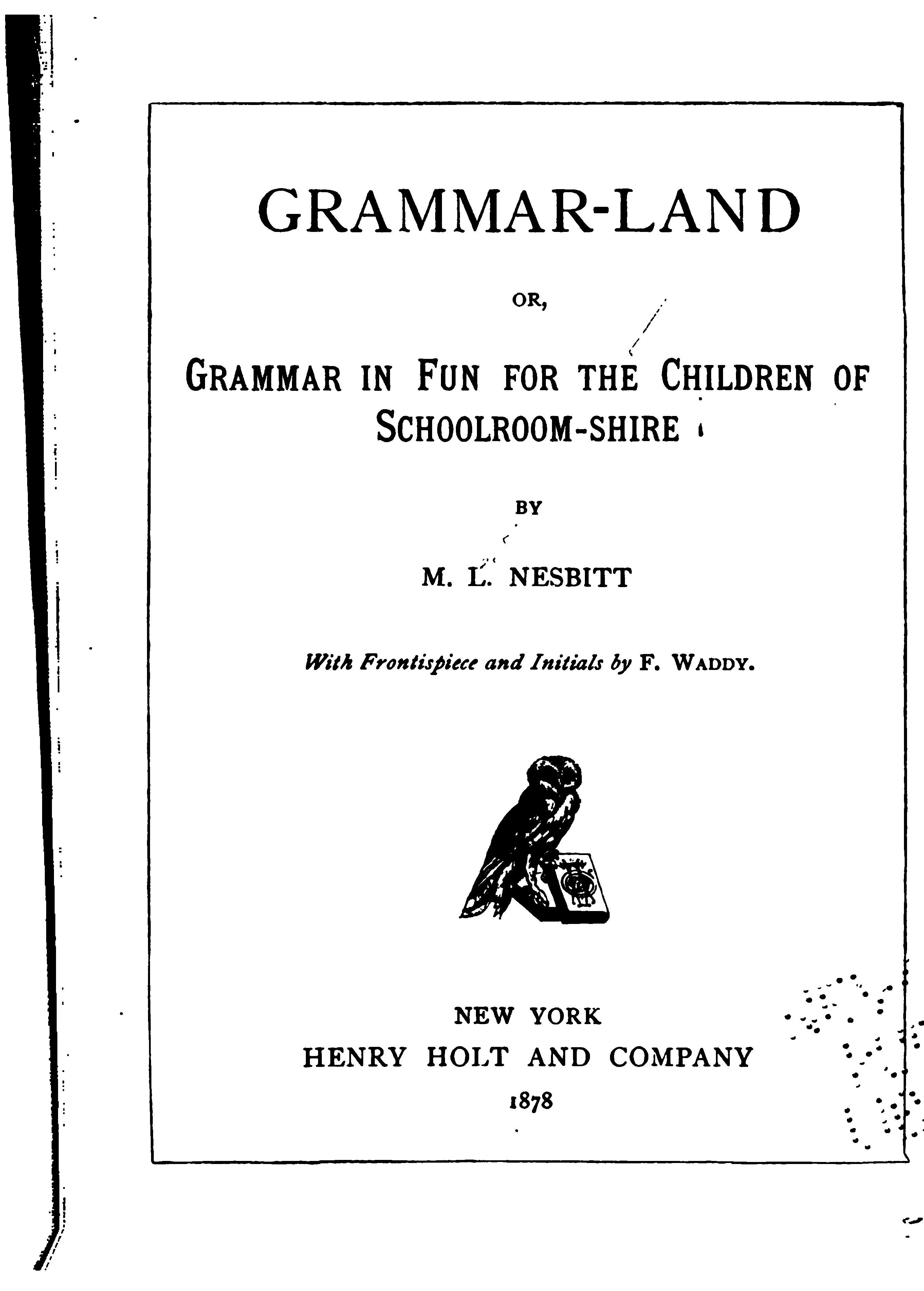 Waldorf 4th Grade Grammar Grammar Land Book Free Online Worksheets Here S Docs