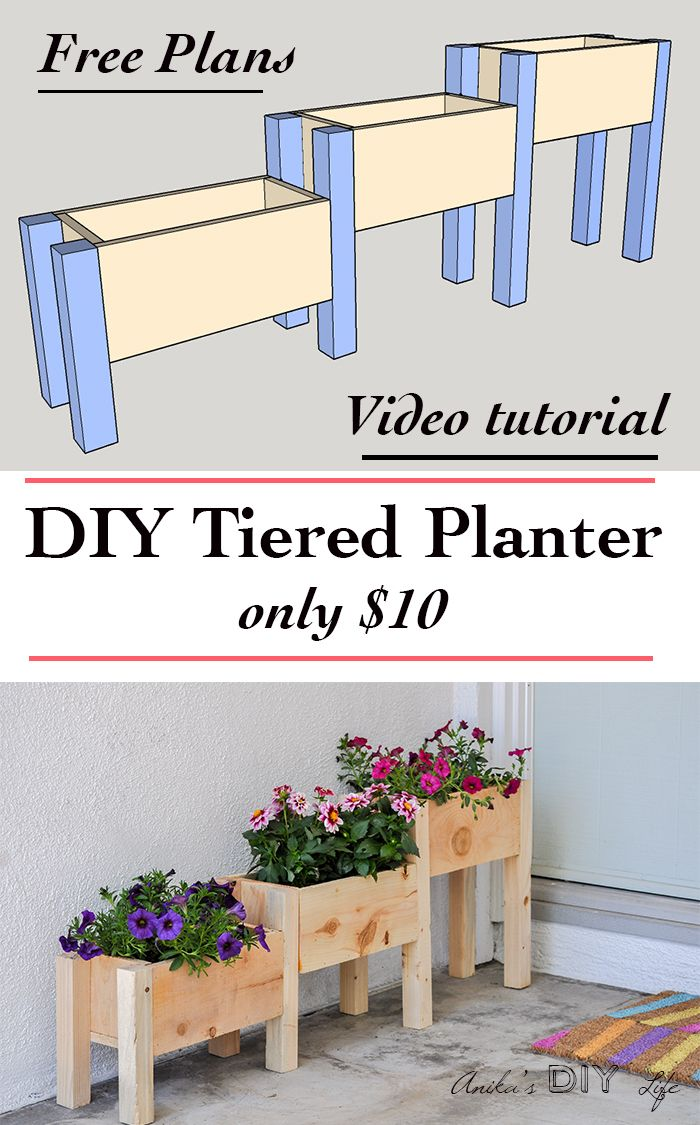 Easy DIY Tiered planter for 10! Planter box plans