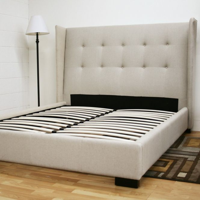 Tall White Upholstered Puffy Headboard Master Bed As Well Queen Size Frame And