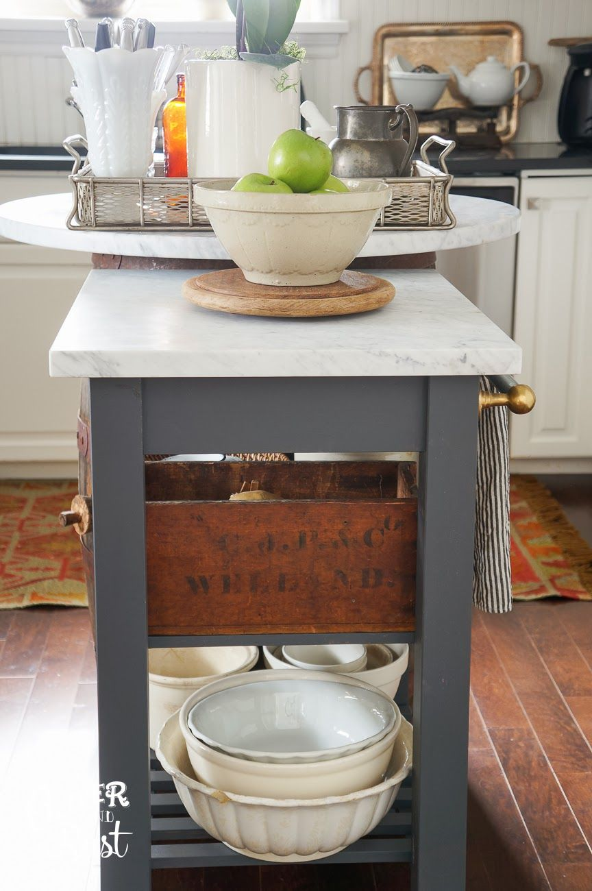 DIY How to Make a Kitchen Island from an IKEA Cart