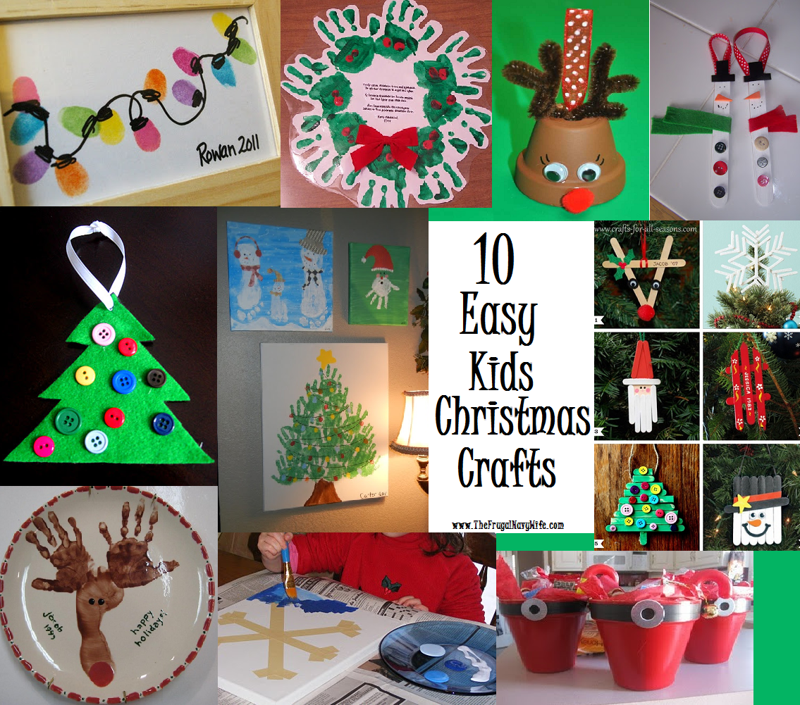 10 Fun And Easy Kids Christmas Crafts