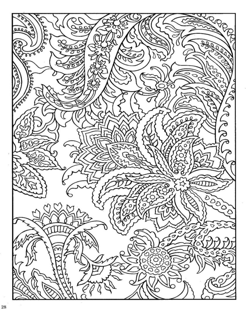 dover paisley designs coloring book  color  pinterest