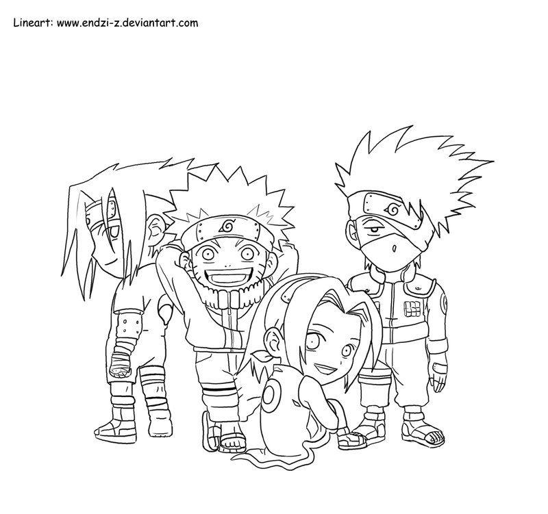 Chibi Kakashi Drawings Kakashi Team Chibi By Endzi Z