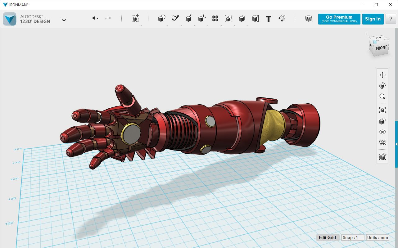 123D Design is a free, powerful, yet simple 3D modeling