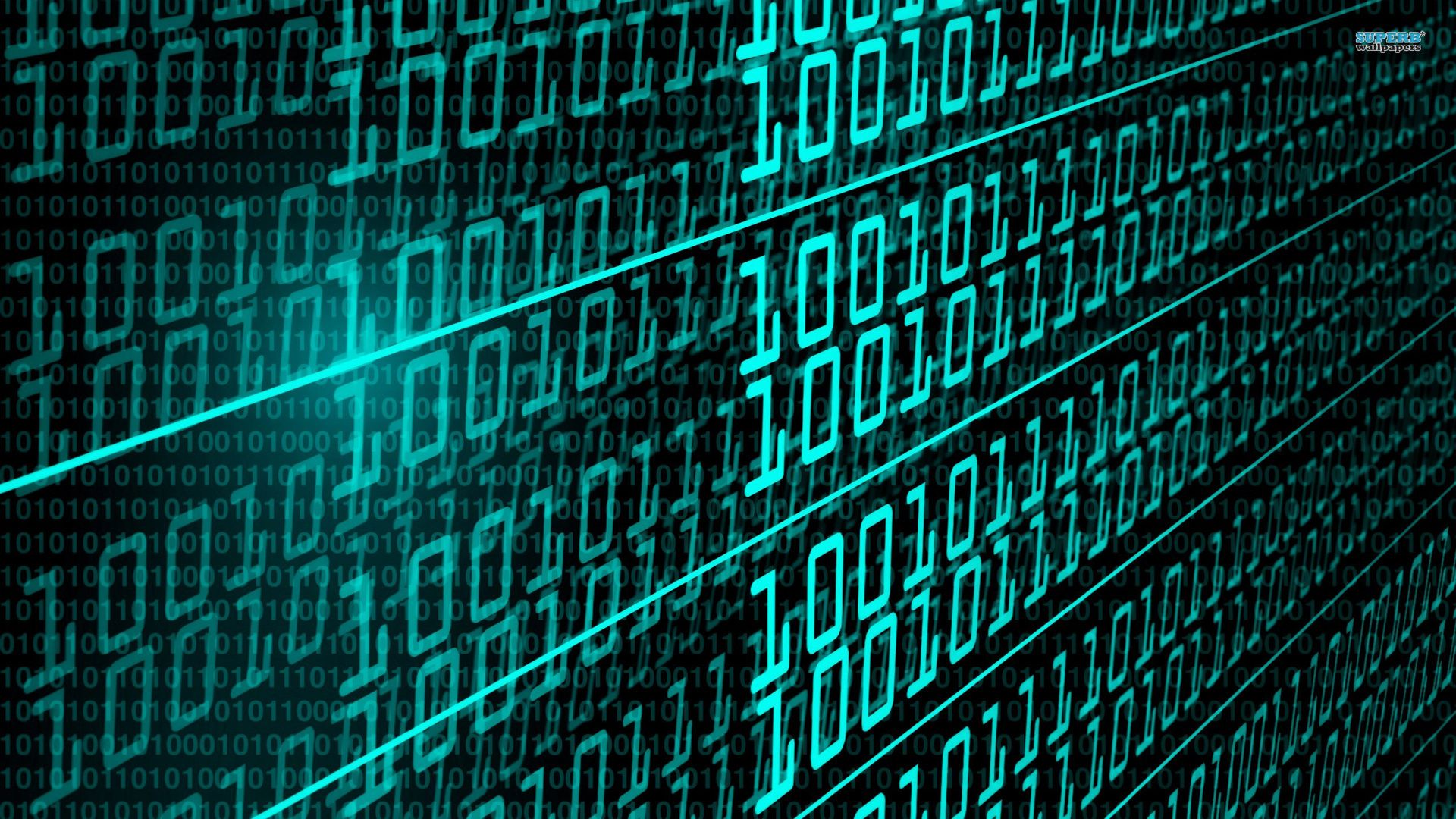 World information technology background images with binary