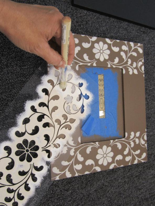 how to stencil picture frames edgestencilsindian