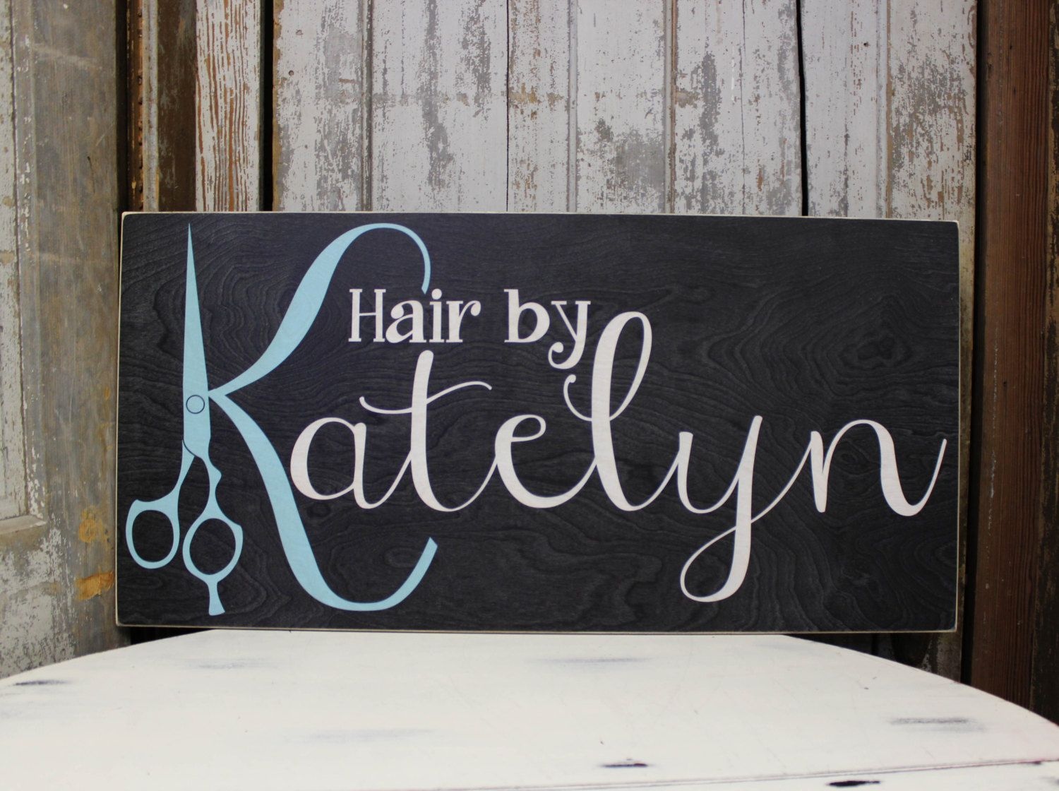 Business Sign with Custom Logo, Handmade Business sign for