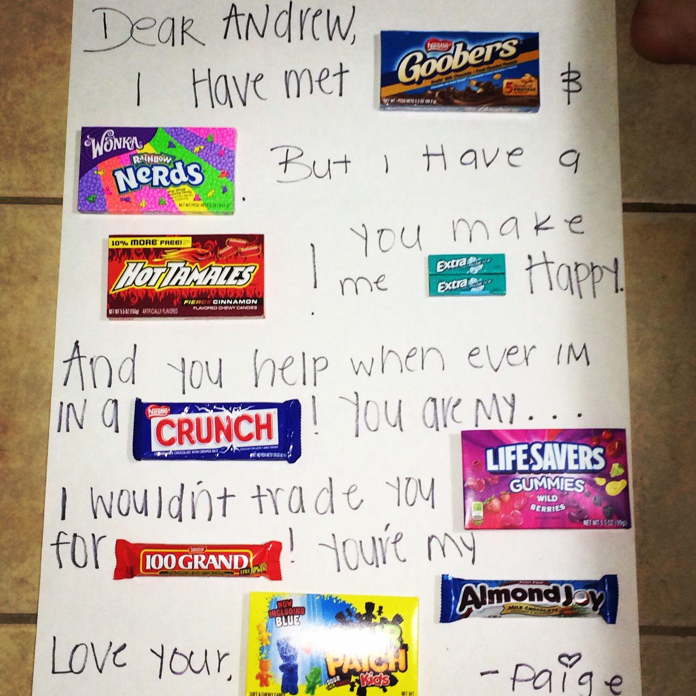 Candy Poster for my boyfriend DIY Pinterest Craft