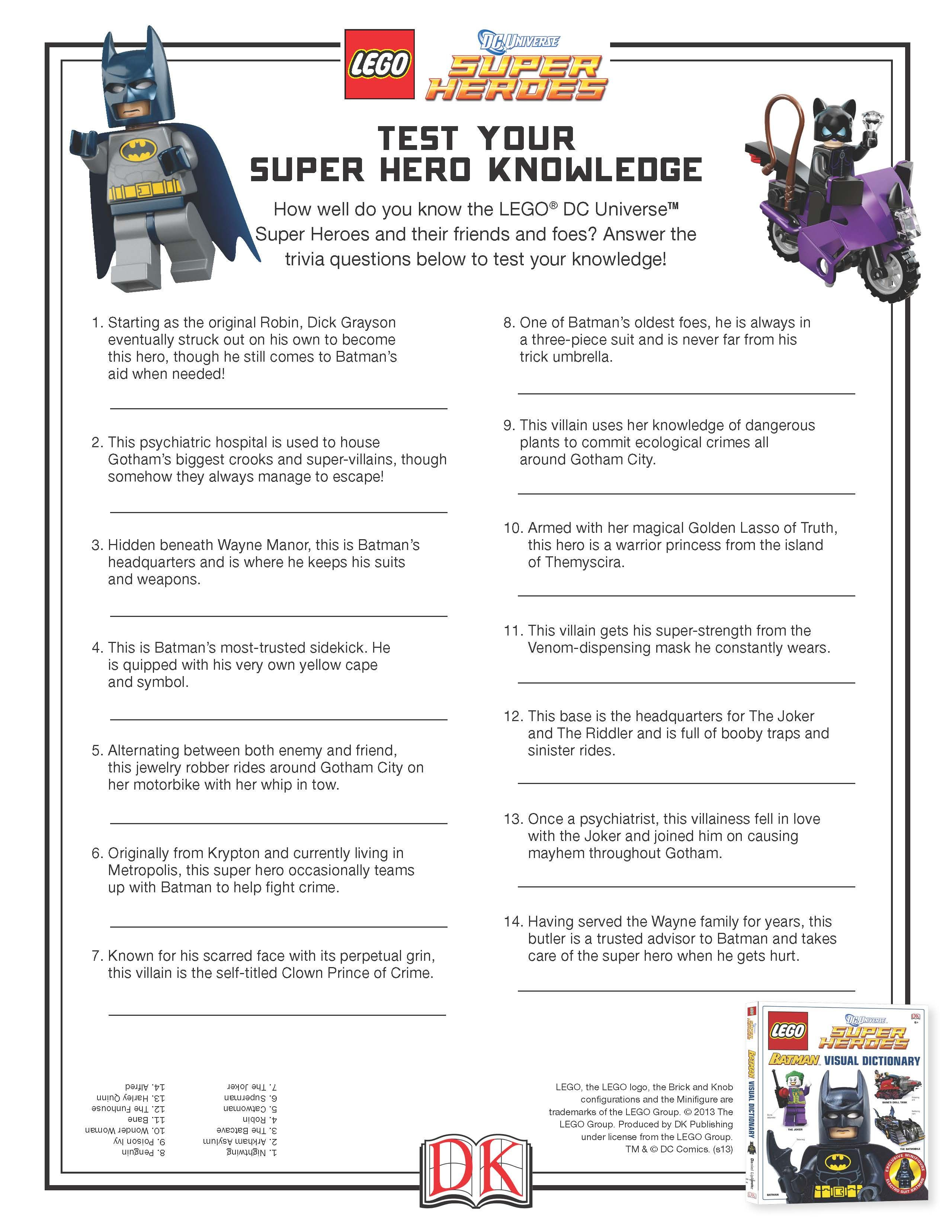 Take This Quiz And Test Your Super Hero Knowledge Lego