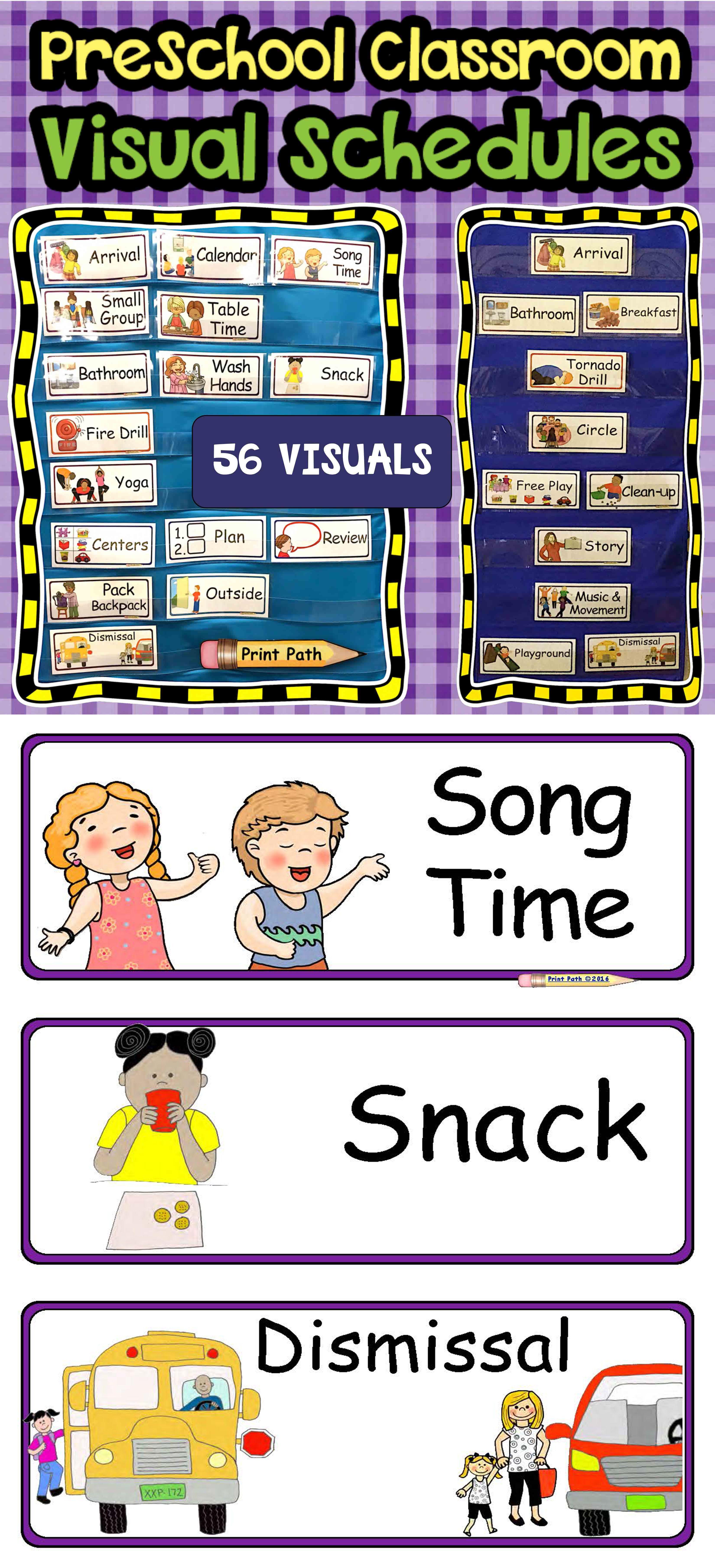 Visual Schedule Amp Center Labels Editable Prek Classroom