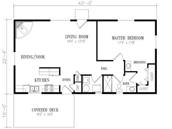 floor plan for 20 x 40 1 bedroom - google search | house plans