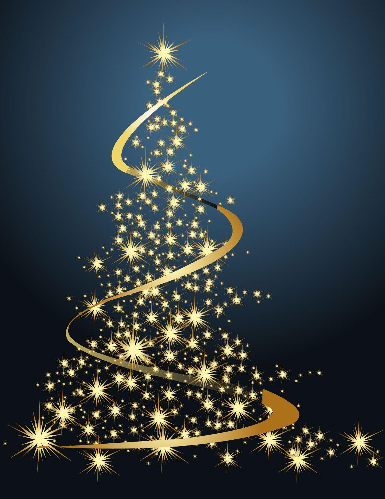 free vector Dream bright christmas tree vector DIY