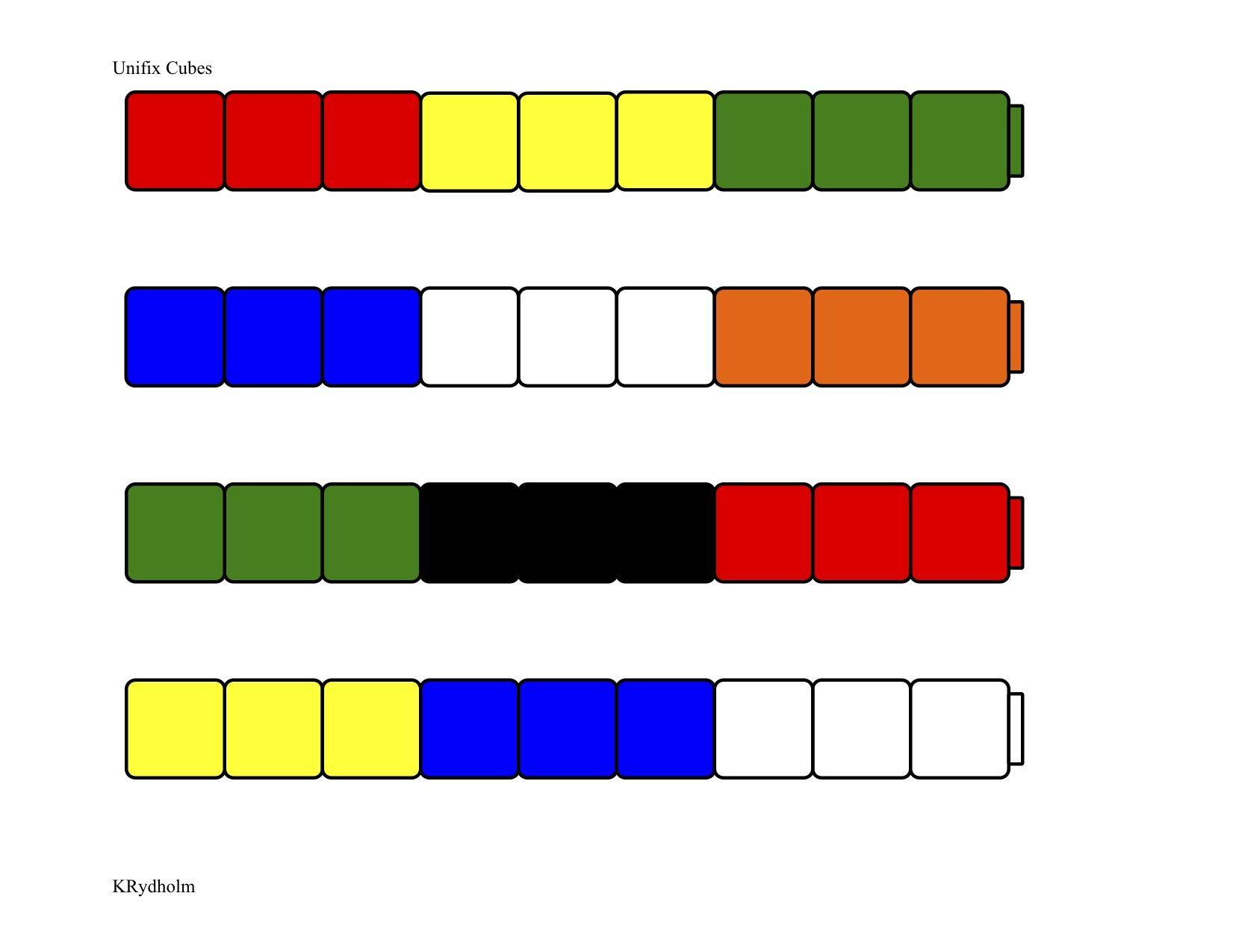 Unifix Patterns 3