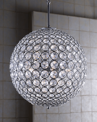 Left Coast Luxe Crystal Ball Chandelier