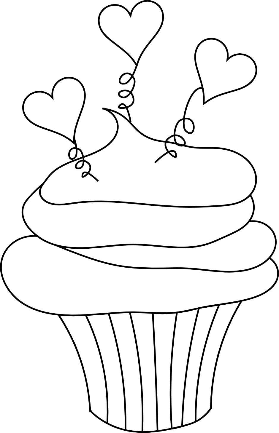 This Cupcake Image With Little Hearts is Perfect for