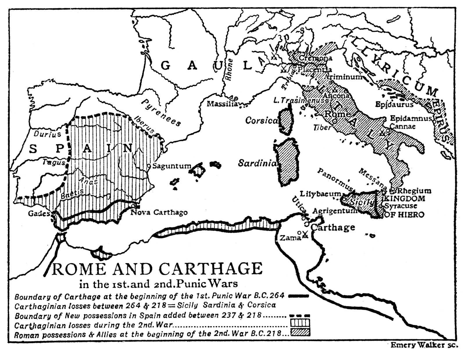 Week5 Map Of Rome And Carthage In The 1st And 2nd Punic