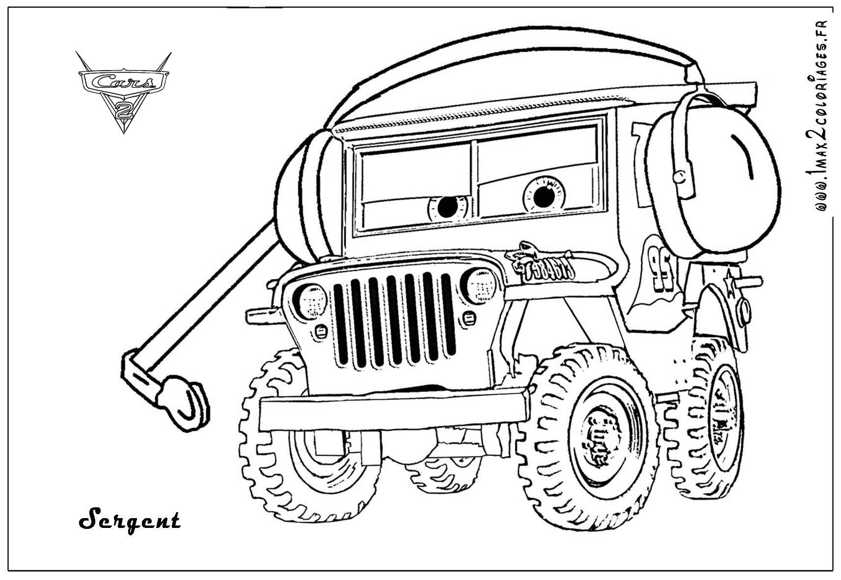 Sarge The World War Ii Jeep From The Movie Cars With His
