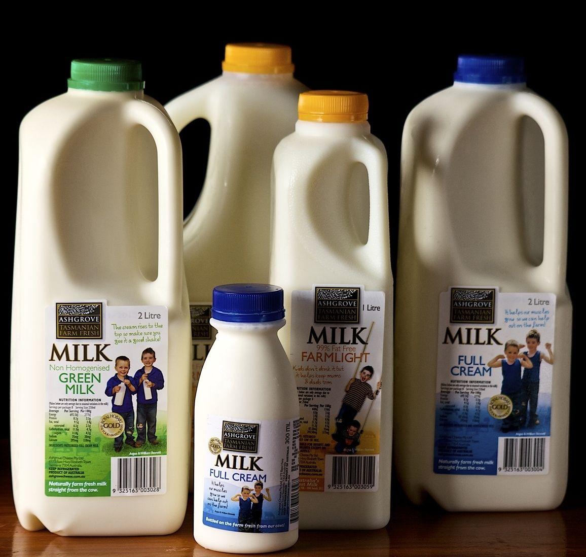 Ashgrove Tasmanian Farm Milk straight from the cow nothing