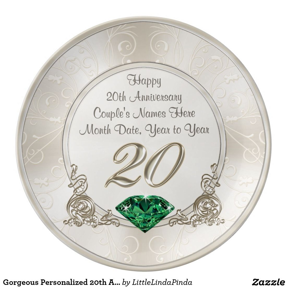 Personalized 20th Anniversary Gifts Anniversary