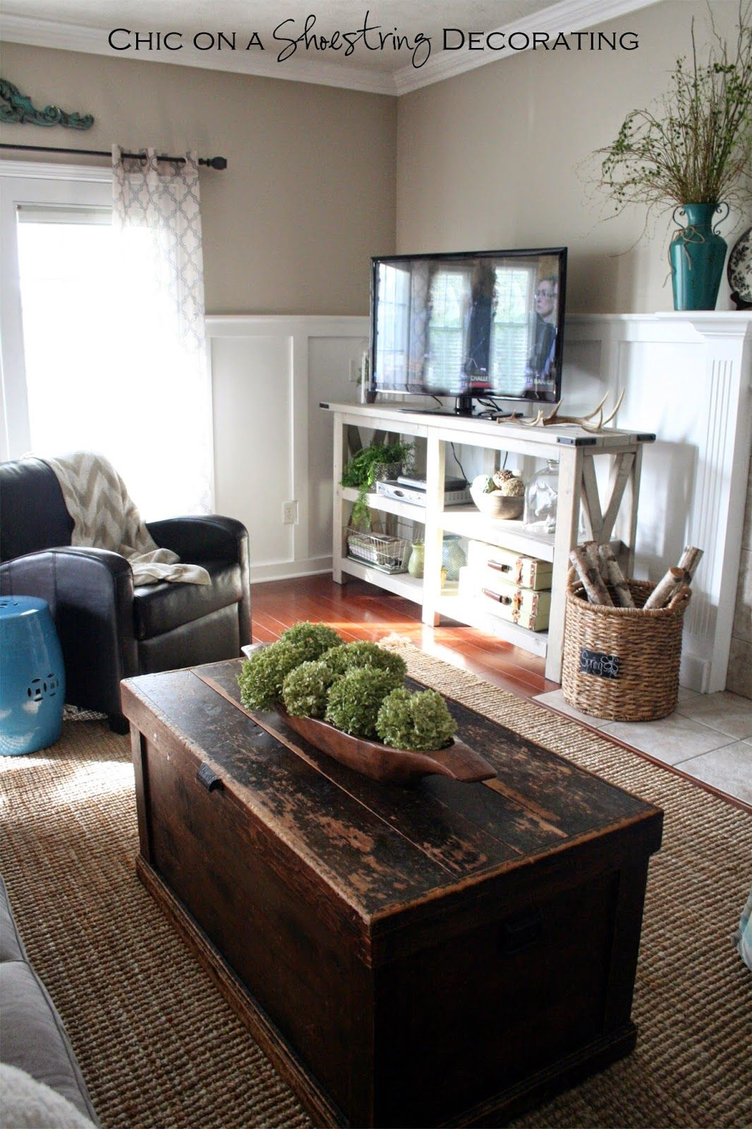 My Farmhouse Chic Living Room Reveal Home Pinterest