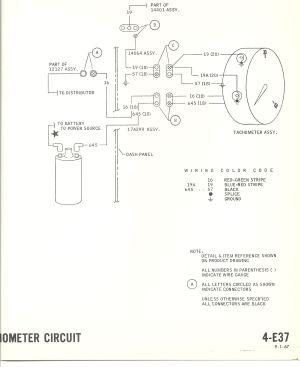 1967 mustang wiring to tachometer |  1968mustang