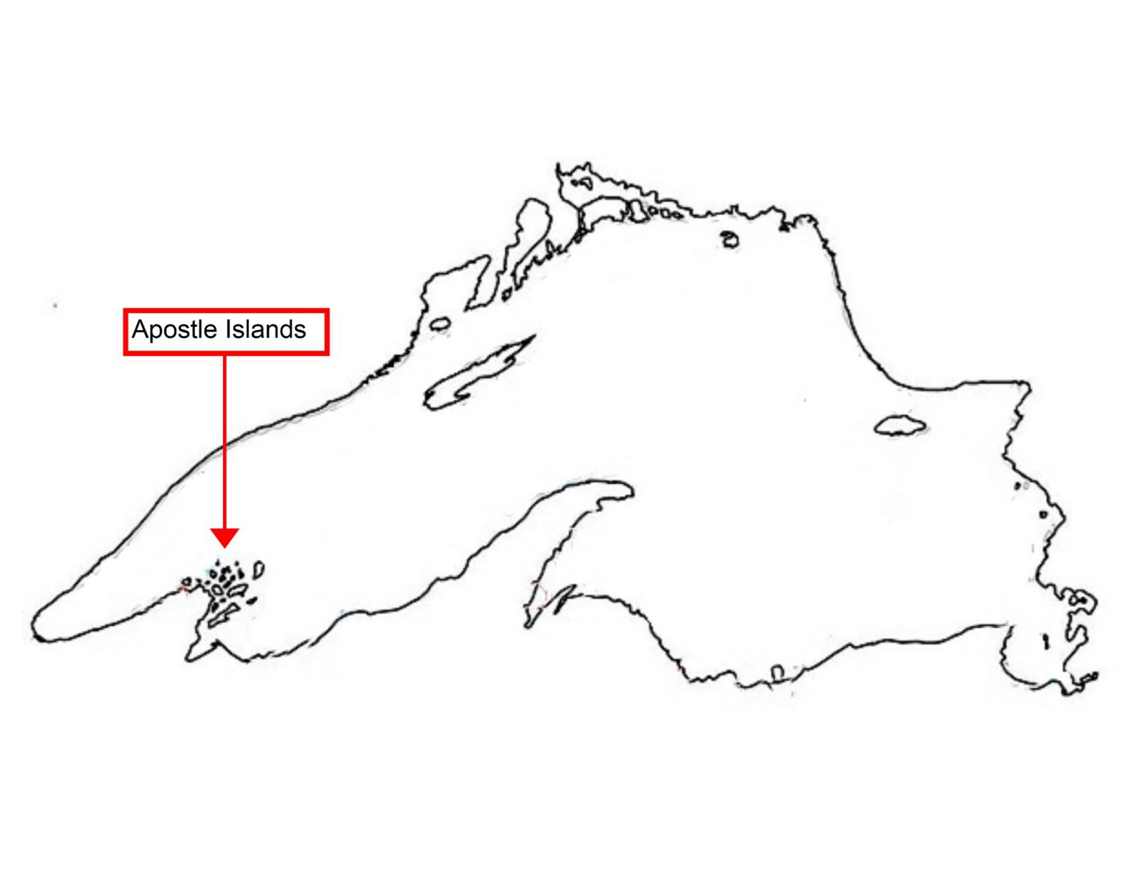 Lake Superior Outline