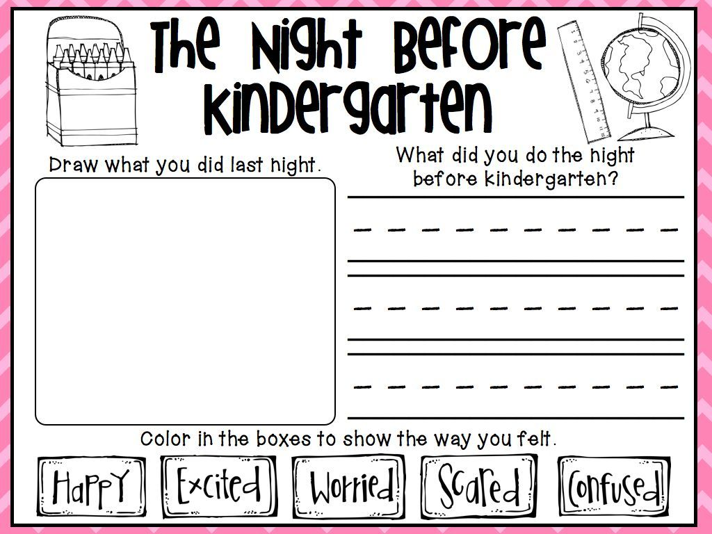 The Night Before Kindergarten One Of The Great Activities From My Back To School Packet