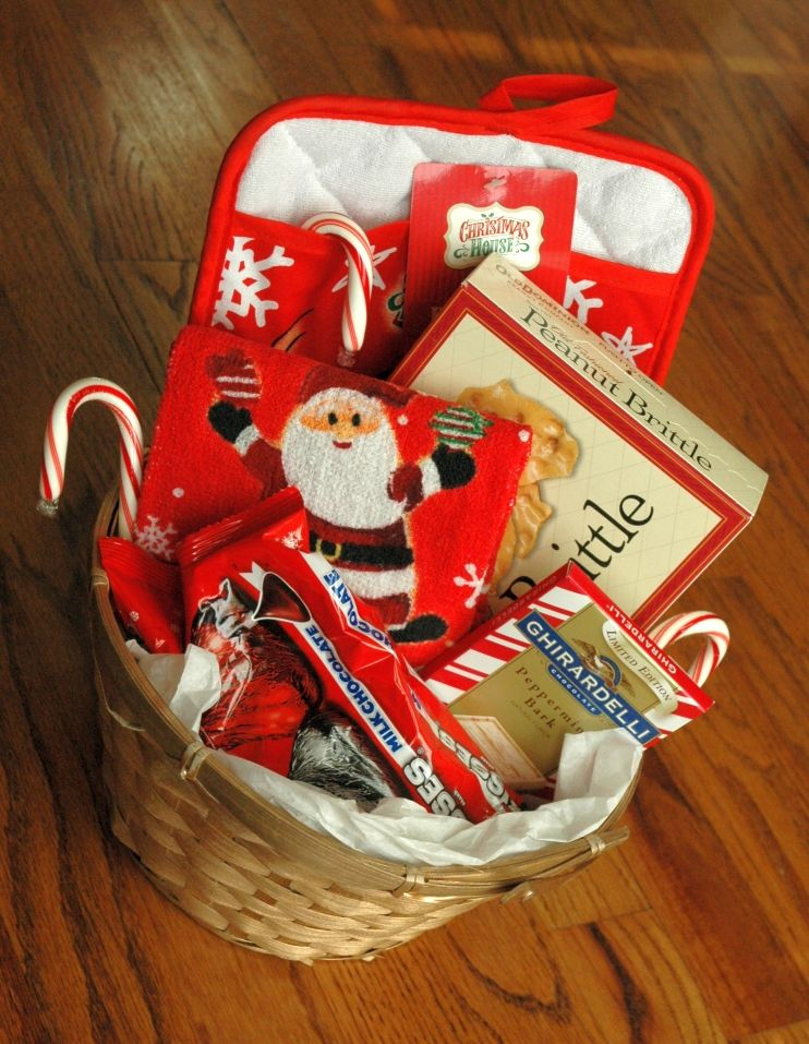 DIY Gift Baskets these items could probably be found in