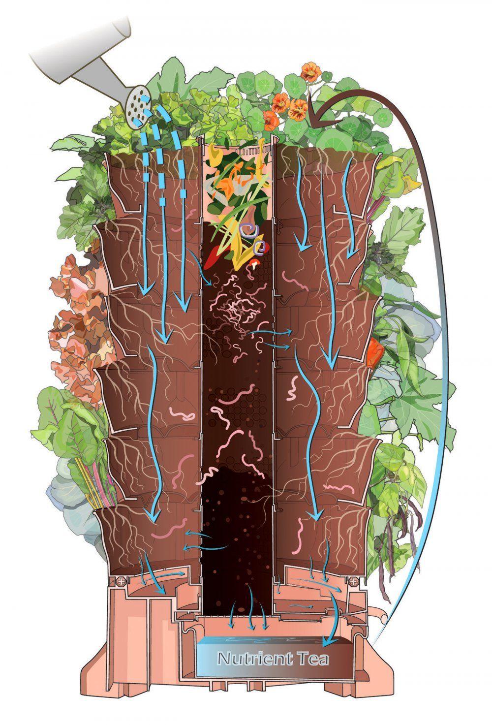 How a Garden Tower works the ecology inside a Garden