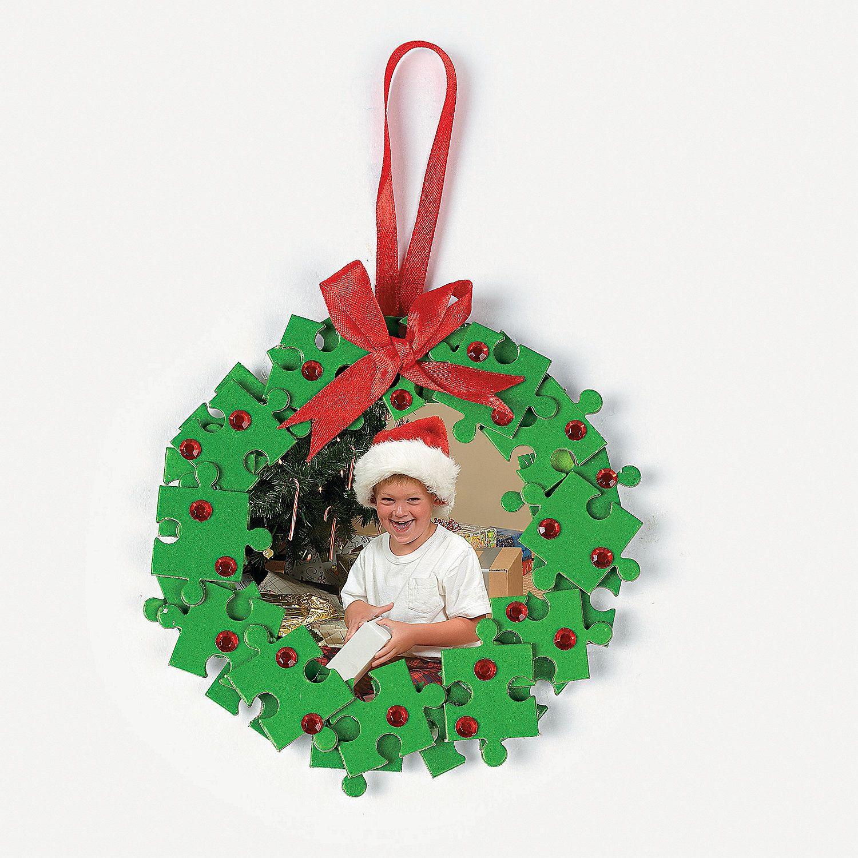 Puzzle Piece Wreath Photo Frame Ornament Craft Kit