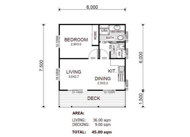 Kit Homes Can Be Designed To Make Excellent Granny Flats This Flat Has One Bedroom With Open E Kitchen Meals And Living Room