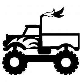 Download monstertruck | Silhouette cameo | Pinterest | Silhouettes ...