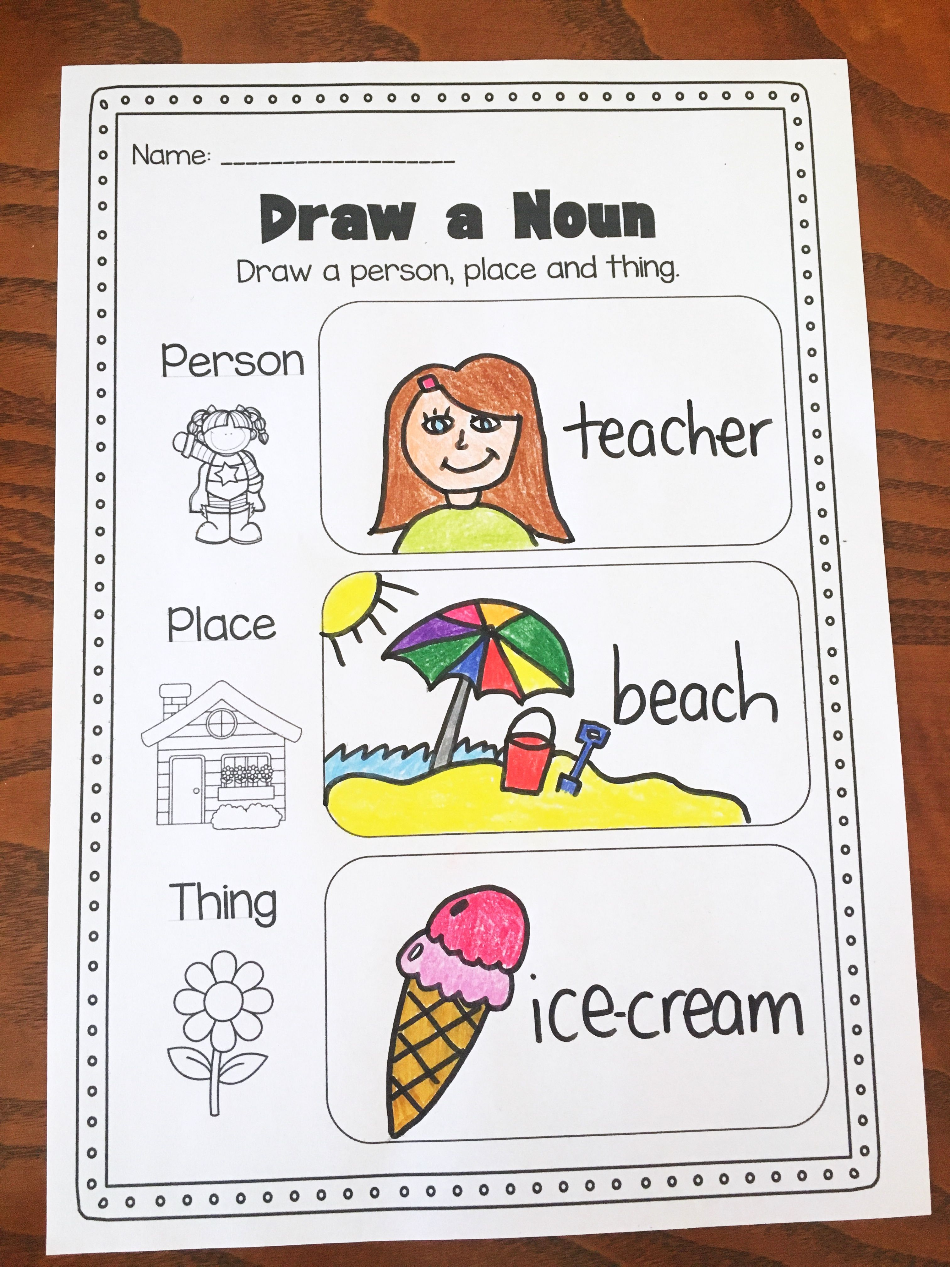 Nouns Printable Worksheet Pack