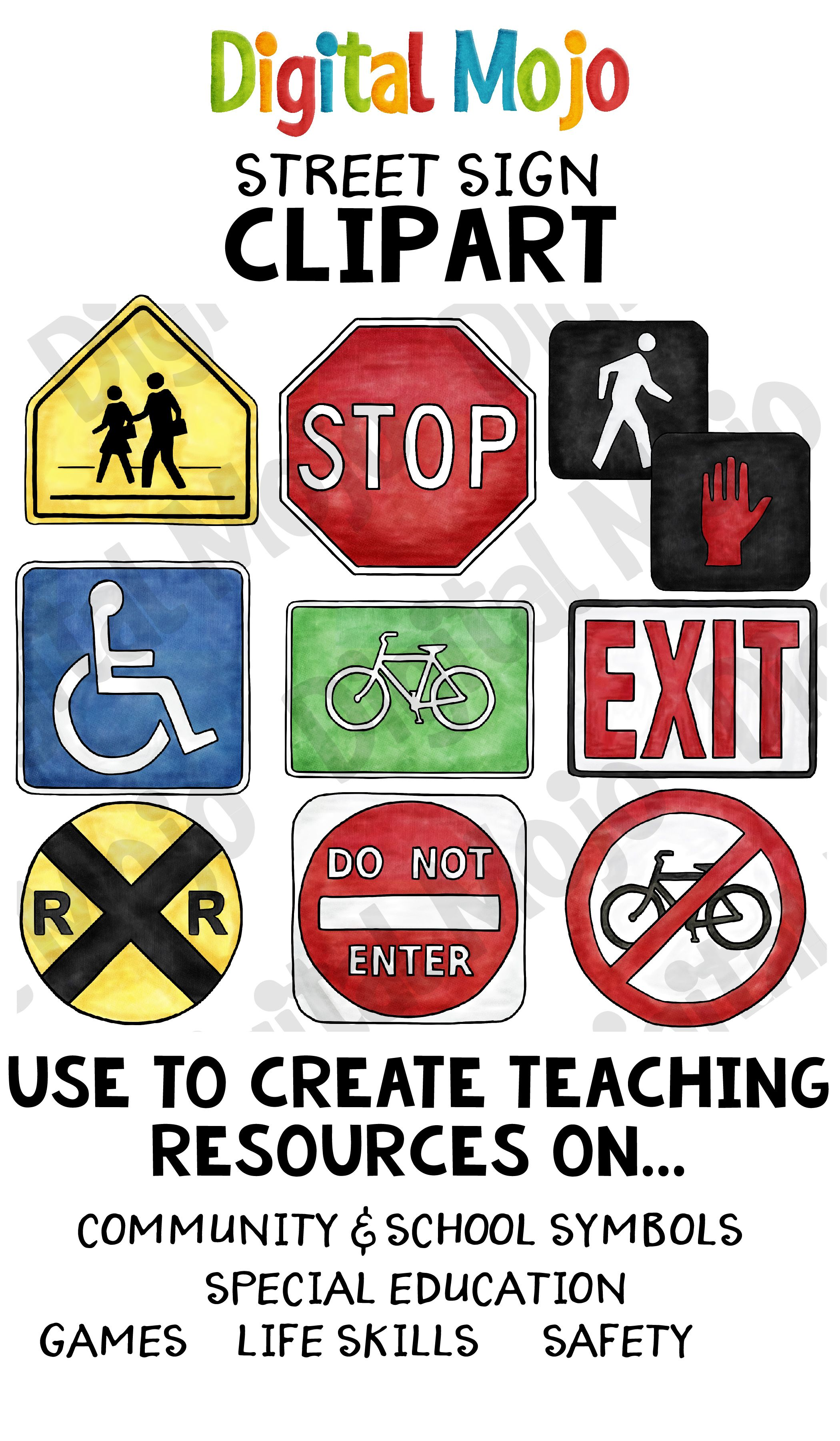 Street Signs Clipart